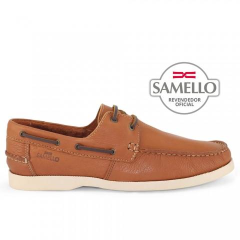 Dockside Samello Conhaque c/ sola Creme Tamanhos 45 a 50