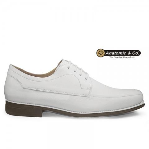 Sapato Anatomic Gel All White 7707 Floater Branco Tamanhos 39 ao 42