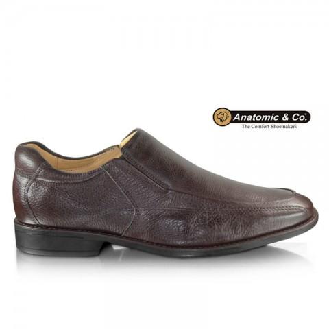 Sapato Anatomic Gel Veneza 9246 Floater Brown Tamanhos 40 a 48