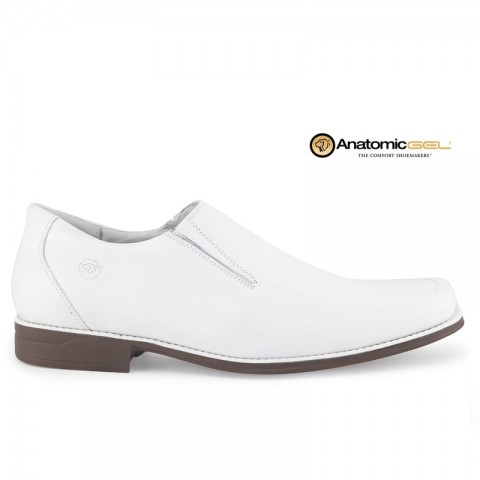 Sapato Anatomic Gel Doctor White 7723 Floater Branco Tamanhos 39 a 47